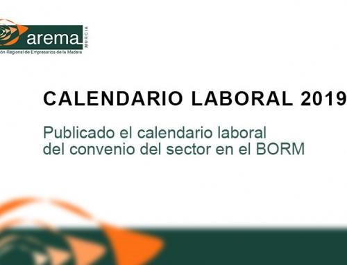 Publicado calendario laboral del Convenio del sector en el BORM